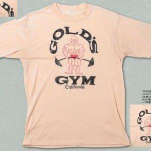 ゴールドジムヴィンテージ大研究vol.01 「最も古いものの1つであろうゴールドジムTシャツ」