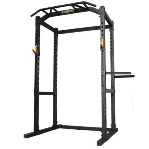 高重量トレーニングでもぐらつかない チンニングやディップスも可能なパワーラック