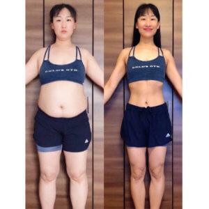 1年半ジムに通って痩せなかった女性が-23㎏痩せた方法【筋トレで大変身!ダイエットビフォーアフター】