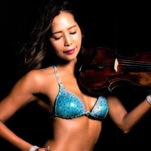 筋肉と音楽の融合!美ボディ大会初出場のプロバイオリニストが魅せた